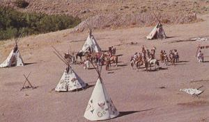 Indian hunters bringing in game,  Pawnee,  Oklahoma,  40-60s