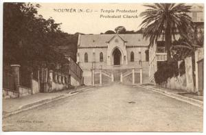 New Caledonia Noumea Protestant Church Postcard