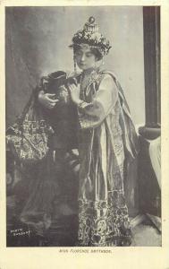 Miss Florence Smythson film actress costume postcard