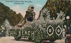 PASADENA , California , 00-10s ; Seal Beach float , Tournement of Roses Parade