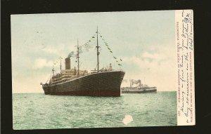 USA Postmark 1907 Seattle Wash Steamship MINNESOTA on Puget Sound Postcard