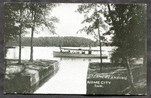 dc274 - ROME CITY Indiana 1912 Steamer Landing