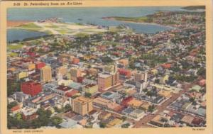 Florida St Petersburg From An Airliner 1949 Curteich
