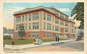RAHWAY NEW JERSEY~HIGH SCHOOL~CURZON ROBEY PUBLISHED 1921 PSTMK  POSTCARD