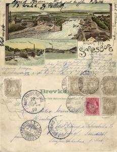 norway norge, SARPSBORG BORG, Østfold, Hafslund, Sannesund (1899) Stamps