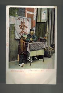 Mint San Francisco California USA Chinatown RPPC Postcard Chinese Fortune Teller