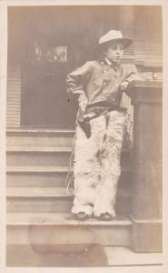 RP; Boy wearing fur chaps, 10-20s