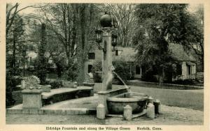 CT - Norfolk. Village Green, Eldridge Fountain