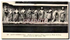 Old Postcard Saint Germer Altarpiece of the & # 39ancienne Abbey retains the ...