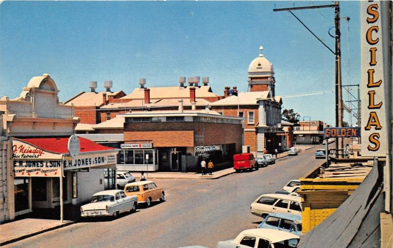 Port Augusta South Australia~Commercial Road~Jones & Son~Woolworth~50s Cars
