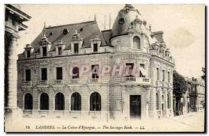 Old Postcard Bank Caisse d & # 39Epargne Langres