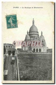 Old Postcard Paris Basilica of Montmartre