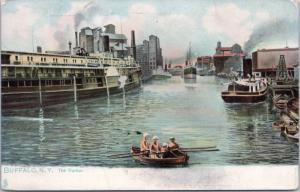 The Harbor Buffalo NY New York TUCK 2037 Series Vintage Postcard E15