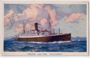 Anchor Line T.S.S. California