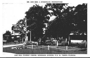 Florida Tampa Oak Hill Tourist Cabins 1941
