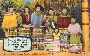 Miami Seminole Indians, Florida USA Unused