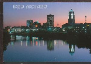 Skyline Des Moines IA Postcard BIN