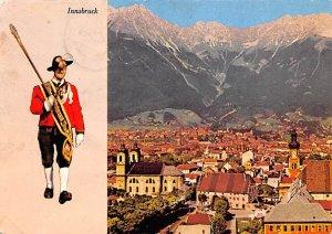 Birds Eye View Innsbruck Austria 1960 Missing Stamp