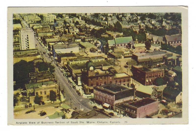1946 Picture Postcard - Sault Ate. Marie, Canada Air View - See Reverse (PP18)