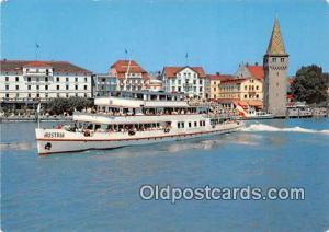Ship Postcard Post Card Hafen Von Lindau Ms Austria Ship Postcard Post Card