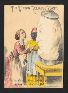 VICTORIAN TRADE CARD Wilson Yeast Black Cook Yeast Rising