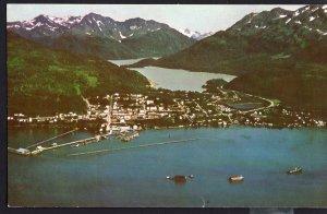 Alaska CORDOVA Aerial Night View Copper River Katalia Yakataga 1950s-1970s