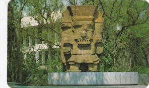 MEXICO D. F.; Rain God, Tlaloc, outside of the Anthropology Museum, 40-60s