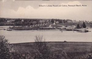Gilberts Lobster Pound And Cabins Pemaquid Beach Maine 1949