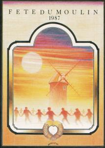 Fete Du Moulin French Festival St Malo Du Bois 1987 Limited Edition Postcard