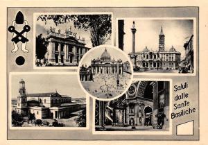 Italy Ricordio di Roma Sane Basiliche Basilica Square General view