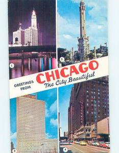Unused Pre-1980 SHERMAN HOTEL & GREYHOUND BUS STATION Chicago IL ho7982-12