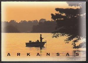 Fishing Hot Springs AR Postcard BIN