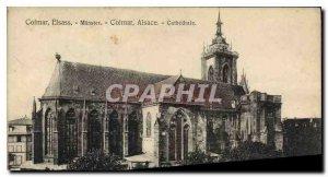 Old Postcard Colmar Cathedral