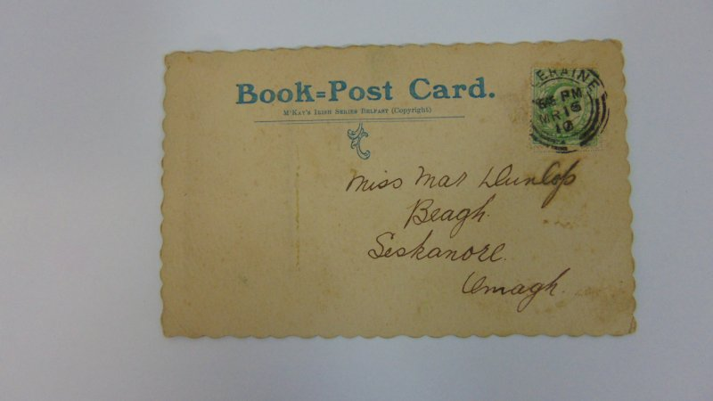 Antique 1910 St. Patrick's Day Postcard Belfast
