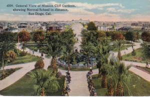 California San Diego General View Of Mission Cliff Gardens With Normal School...