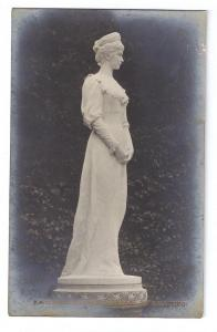RPPC Salzburg Kaiserin Elisabeth Statue Austria
