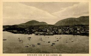 ME - Bar Harbor. Bird's Eye View