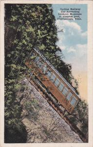 Incline Railway Car Ascending Lookout Mountain at steepest part, Chattanooga,...