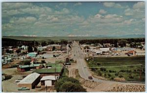 PINEDALE, Wyoming  WY    Birdseye View   Sublette County  ca 1960s  Postcard
