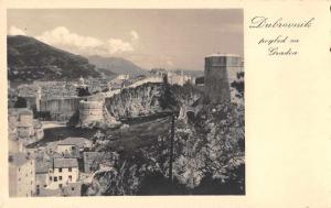Dubrovnik Croatia City View Real Photo Antique Postcard J77867