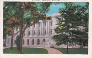 North Carolina Charlotte City Hall 1940