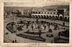 CPA Larache Plaza de Espana MAROC (688268)