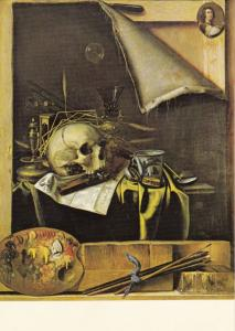 Cornelis Gysbrechts Symbols Of Mortality Yorkshire Medieval Painting Postcard