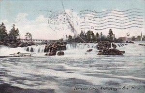 Androscoggin River Lewiston Falls Maine 1907
