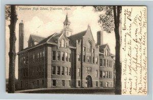 Plainview MN-Minnesota, Plainview High School, Vintage c1905 Postcard