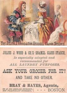 Approx Size Inches = 3 x 4.25 Julius J Wood & Co's Enamel Gloss Starch Tradecard