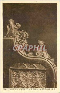 Old Postcard Thann Sculpture Stalls Choir of the Cathedral XVI
