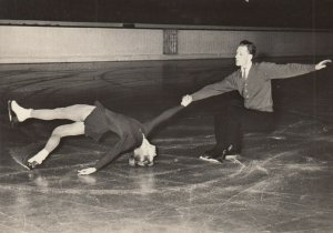 RP: SSSR Ice Skating Couple , 1960s