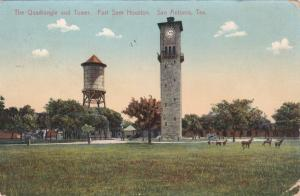 SAN ANTONIO , Texas, PU-1912 ; The Quadrangle & Tower, Fort Sam Houston