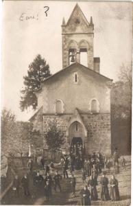 CPA EURE - sortie de la Messe de St-MARCEL; carte photo (148363)